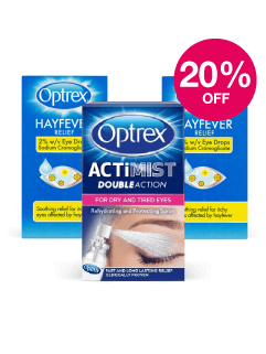 Save 20% on Optrex Hay Fever