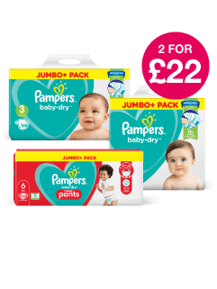 2 for £22 on Pampers