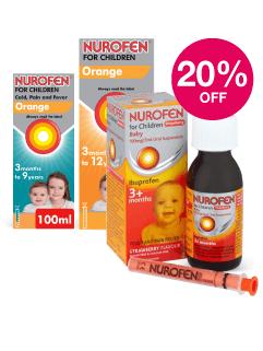 Save 20% on Nurofen For Childern
