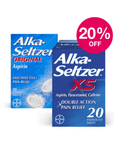 Save 20% on Alka Seltzer