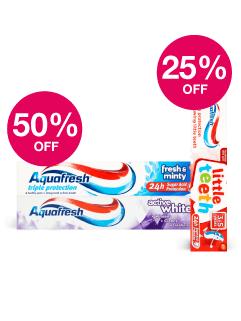 Save 50% Aquafresh