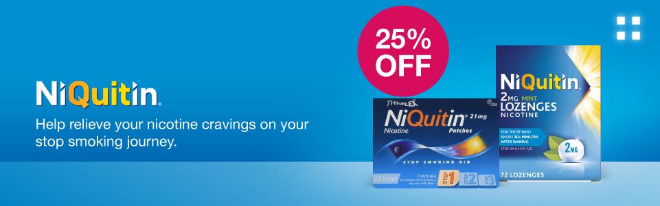 25% off NiQuitin
