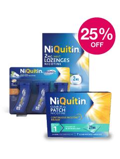 Save 25% on Niquitin