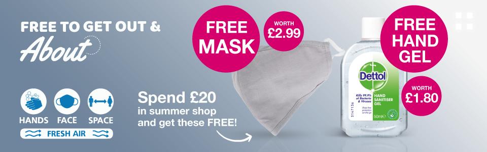 FREE Mask and Sanitiser