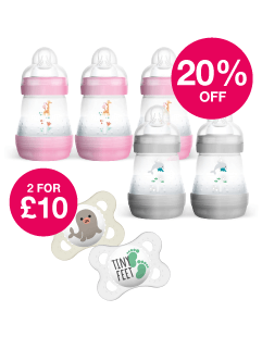 Save 20% on selected MAM + 2 for £10 on Soothers