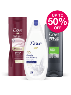 Save up to 50% on Dove