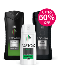 Save up to 50% on Lynx