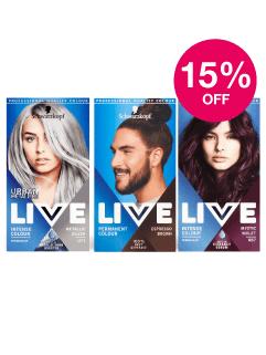 Save 15% on Schwarzkopf Live