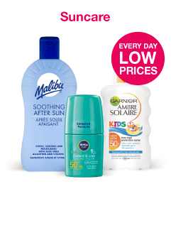 Every Day Low Prices on Suncare