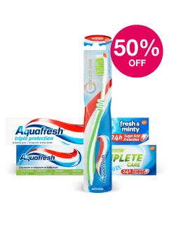 Save 50% on Adults Aquafresh