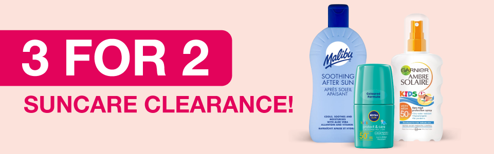 Suncare Clearance | 3 for 2