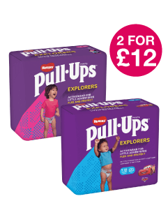 2 for £12 on Huggies Pull Up Explorers