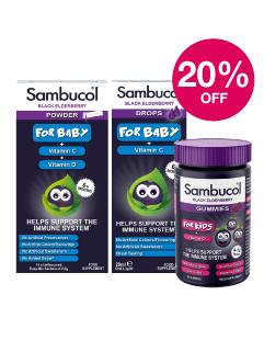 Save 20% on Sambucol Baby & Children