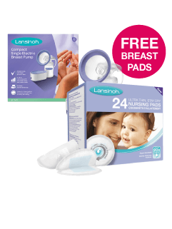 Free Breast Pads with any Lansinoh Breast Pump