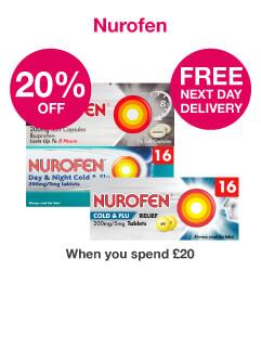 Save 20% + FNDD WYS £20 on Nurofen