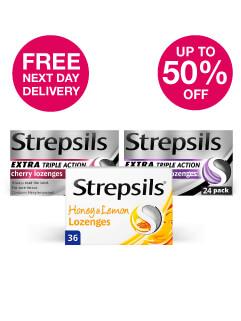 Save up to 50% + FNDD WYS £20 on Strepsils