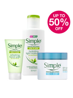 Save up to 50% on Simple