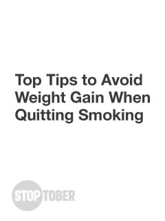 Top Tips to Avoid Weight Gain When Quitting Smoking