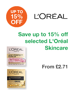 Save up to 15% on selected L'Oréal Skincare