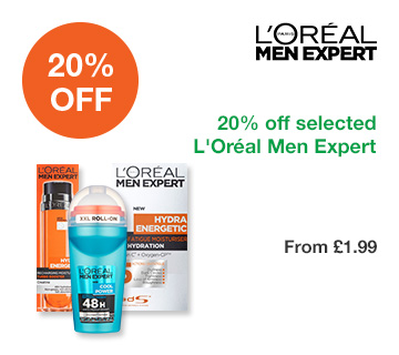 20% off selected L'Oréal Men Expert
