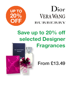 Save up to 20% off selected Designer Fragrances
