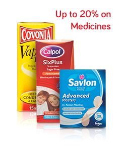 Up to 20% on Medicines
