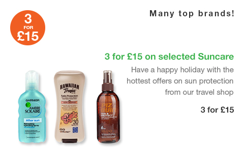 3 for �15 on selected Suncare
