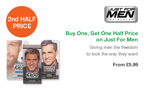 Buy One, Get One Half Price on Just For Men