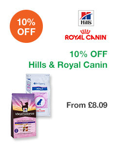 10% OFF Hills & Royal Canin