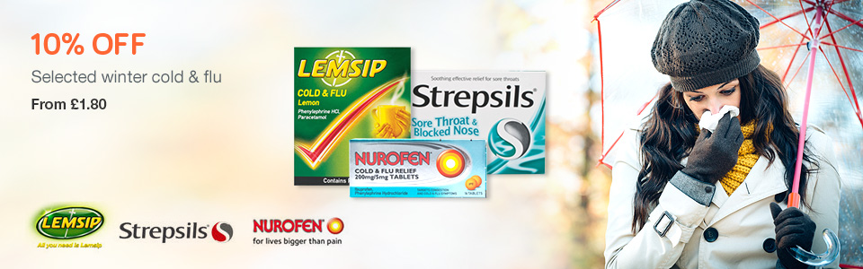 10% OFF Cold & Flu