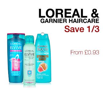 Loreal & Garnier haircare