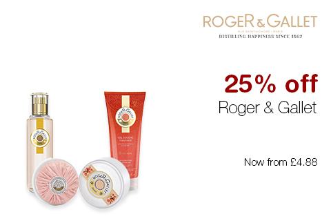 25% off Roger & Gallet