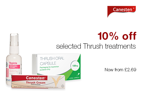 10% off selected Thrush treatments