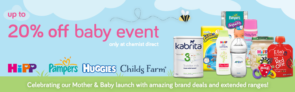up to 20% off baby event