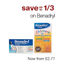 Save up to 1/3 on Benadryl
