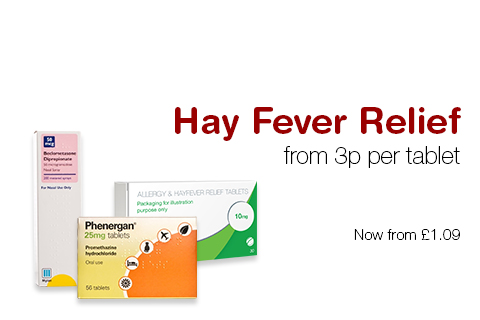 Hay Fever Relief  from 3p per tablet