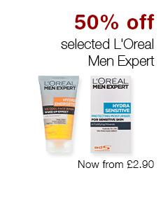 50% off selected L'Oreal Men Expert
