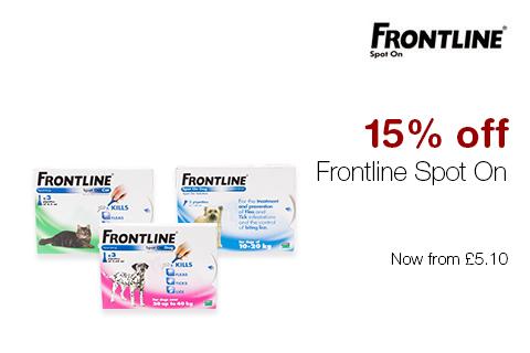 15% off Frontline Spot On