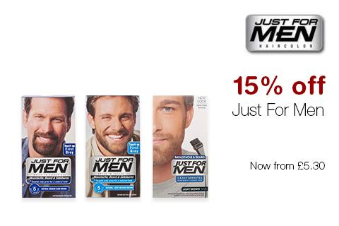 15% off Just For Men
