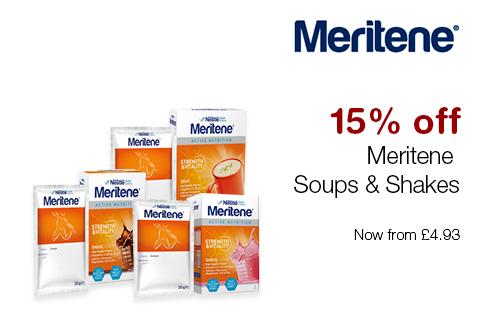 15% off Meritene Soups & Shakes