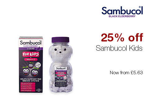 25% off Sambucol Kids