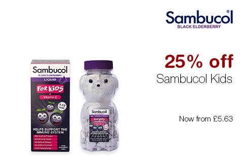 25% off Sambucol Kids