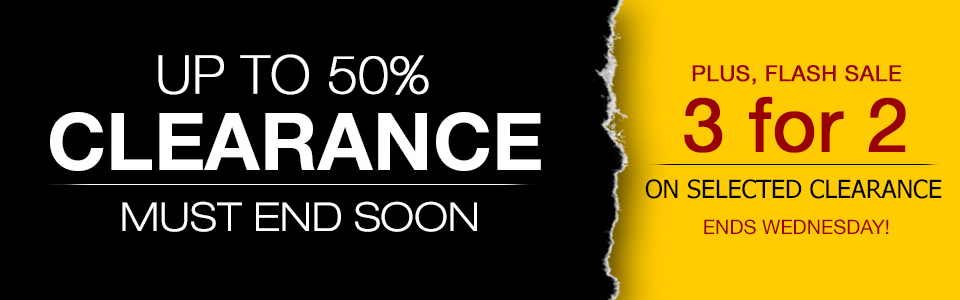 50% Clearance Sale