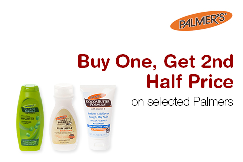 Buy One, Get 2nd Half Price on selected Palmers