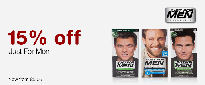 15% Off Just For Men At Chemist Direct