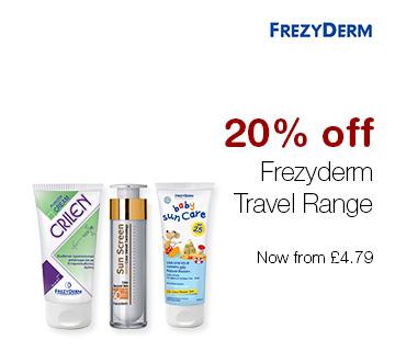 20% off Frezyderm Travel Range