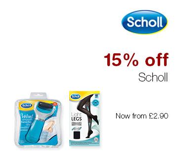 15% off Scholl