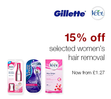 15% off selected Women's Hair Removal