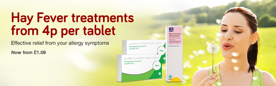Hay Fever - from 4p per tablet