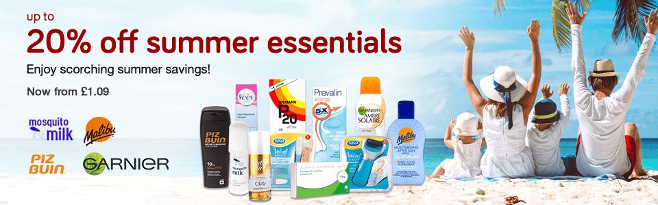 20% Off Summer Essentials